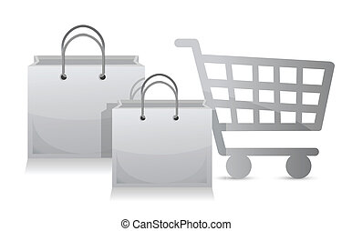 sales shopping cart concept