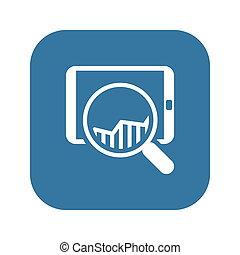 Sales Statistics Icon. Business Concept.