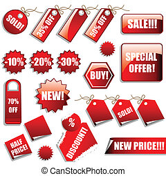 Sales Tags and Stickers - Vector set of sales tags and ...
