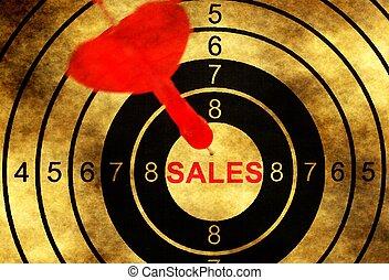 Sales target concept on grunge background