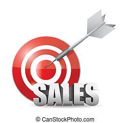 sales target illustration design