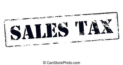 Rubber stamp with text sales tax inside, vector illustration