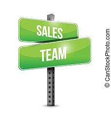 sales team sign illustration design