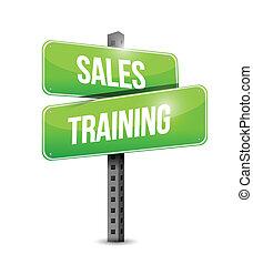 sales training sign illustration design