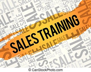 Sales Training words cloud, business concept background