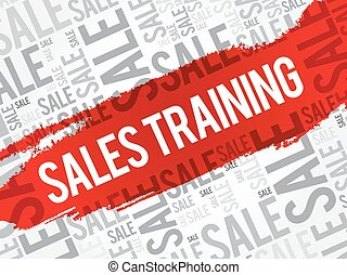 Sales Training words cloud, business concept backgroun