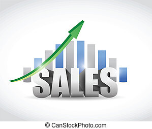 sales up sign graph illustration design