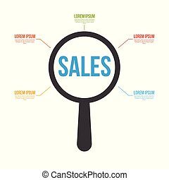 Sales Word Magnifying Glass