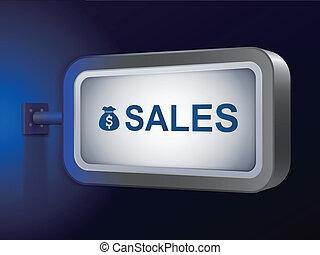 sales word on billboard