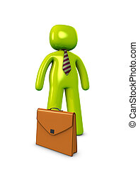Salesman - 3d image, conceptual, solo salesman