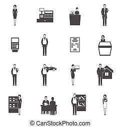 Salesman Icons Set