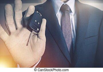 Salesman with Car Keys