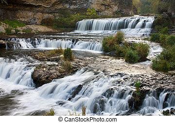 salgueiro, estado, rio, parque, cachoeira