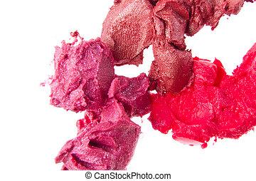 sali, rouges lèvres