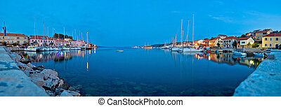 Sali village bay panoramic evening view, Dugi otok, Croatia