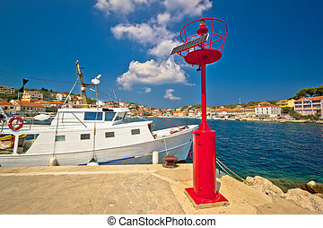 Sali village harbor view on Dugi Otok island, Dalmatia, Croatia