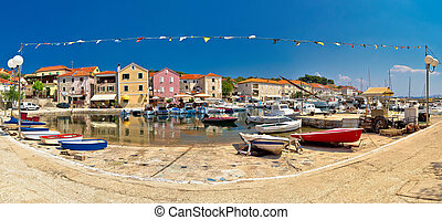 Sali village on Dugi Otok island panorama, Dalmatia, Croatia