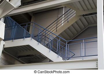 salida de emergencia, escalera