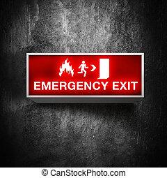 salida de emergencia, señal