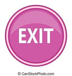 salida de emergencia, signo., vector, illustration.
