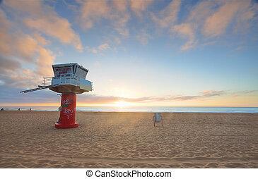 salida del sol, avoca, playa