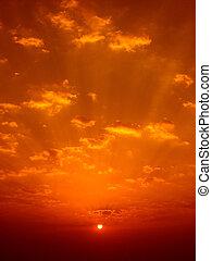 salida del sol, colores