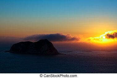 salida del sol, este, capa, nueva zelandia