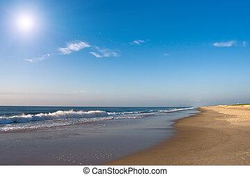 salida del sol, océano atlántico