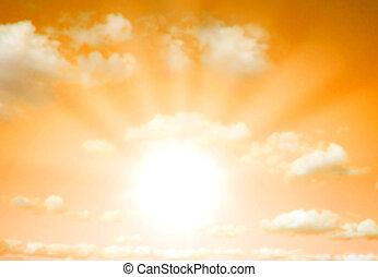 salida del sol, ocaso, /, plano de fondo