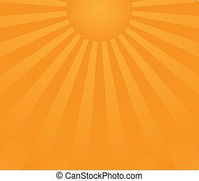 salida del sol, plano de fondo, raster.