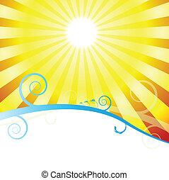 salida del sol, remolino