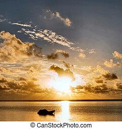 salida del sol, zanzibar