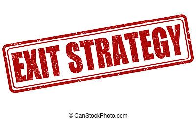 salida, estrategia, estampilla
