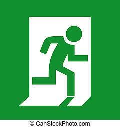 salida, señal de emergencia