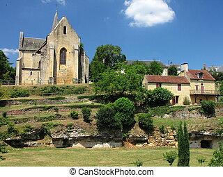 Salignac, church, village,