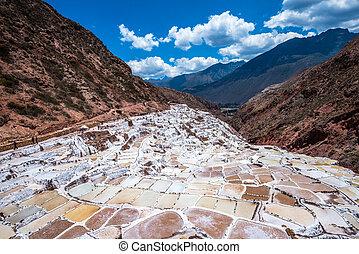 Salinas de Maras, man-made salt mines near Cusco, Peru