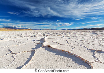 Salinas in Argentina - Salt desert in the Jujuy Province,...