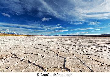 Salinas - Salt desert in the Jujuy Province, Argentina
