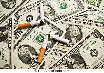 salir, fumar
