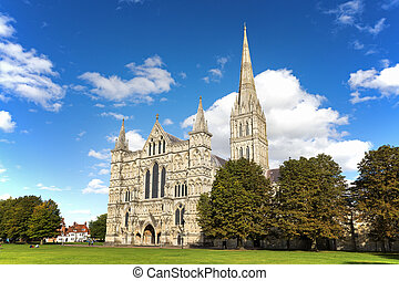 Salisbury Cathedral - Late summer at Salisbury Cathedral and...