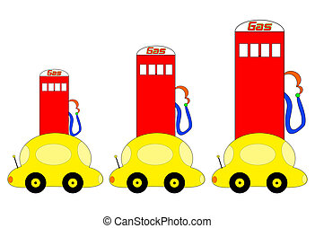 salita, gas, illustrazione, prezzi