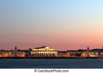 saliva, isla, s., vasilievsky, rusia, europe., petersburg, vista