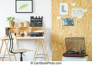 Osb bureau salle planche salle bois lumière moderne