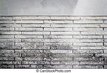 Ancien, mur, tache, brique, inondation, blanc photographie de stock ...