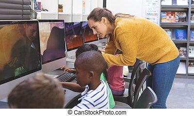 salle, étudiant, enseignement, prof, informatique