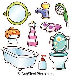 salle bains, élément
