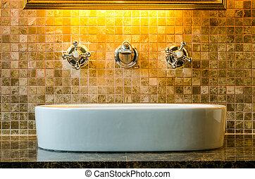 salle bains, conception intérieur