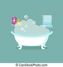 Freehand baignoire retro dessin anim clipart vectoris recherchez illustrations dessins - Email de baignoire abime ...