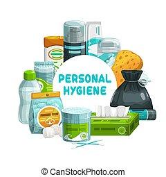 salle bains, douche, articles, soin, hygiène personnelle