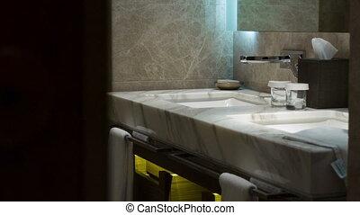 salle bains, hôtel, luxe